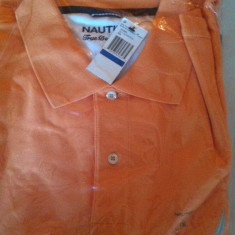 Tricou polo, NAUTICA, mar 1X, import USA, nou, orange, ORIGINAL ! - Tricou barbati Nautica, XL, Maneca scurta, Bumbac