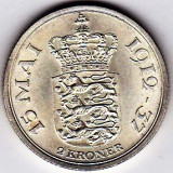 2.Danemarca 2 KRONER 1937 argint  XF/a.UNC,PIESA DE COLECTIE