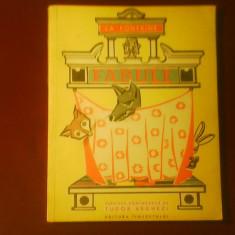 La Fontaine Fabule. Versiune romaneasca de Tudor Arghezi, ilustr. Mircea Morosin - Carte Fabule