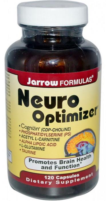 Neuro Optimizer, Jarrow, 120 capsule. Buna functionare a creierului si memoriei, refacere functii cerebrale, sechele AVC, traumatism cerebral, autism foto mare
