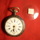 Ceas de Buzunar marca Remontoir ,carcasa argint marcata