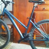 Mountain Bike, V-brake, Cu amortizor, Arc/ulei, 100/100 mm, Aliaje de aluminiu - TREK Skye-S, Model dama 2011