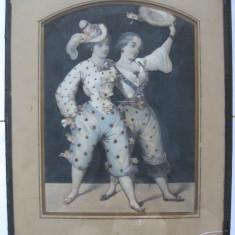 Tapiterie Goblen - REDUCERE 250 LEI!!!RARISIM!TABLOU DE COLECTIE ANII 1900 REALIZAT DIN MATERIALE TEXTILE ORIGINALE DIN ACEI ANI