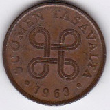 Finlanda Suomen Tasavalta 5 PENNIA 1963