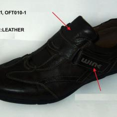 Pantof Sport Piele Wink-FT 010-1/4 - Adidasi barbati Wink, Marime: 42, 43, 44, 45, Culoare: Negru