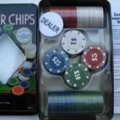 Set poker, Numar jetoane: 100 - Set 100 jetoane pentru poker