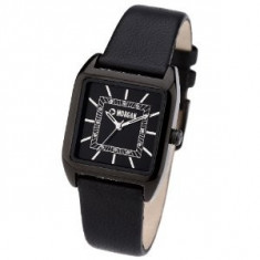 Ceas dama - Ceas Morgan Ladies Black Leather Strap Watch
