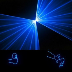 Laser pointer - Laser albastru 1W -1000mW animatie, laser club 1w, laser albastru, laser disco, laser grafic, laser animatie, lumina laser
