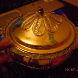VAS DIN METAL CU CAPAC VECHI - Metal/Fonta, Ornamentale