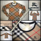 TRICOU DAMA IMPRIMEU CLASIC INTEGRAL firma BURBERRY LONDON ORIGINAL made in GREAT BRITAIN MANECA LUNGA DECOLTAT MULAT TRICOURI FEMEI NEW EDITION, Imprimeu grafic, Universala, Bumbac