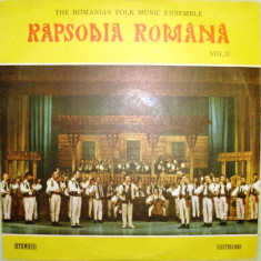 Muzica Populara - RAPSODIA ROMANA VOLUMUL II (DISC VINIL)