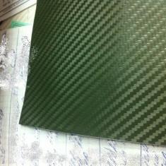 Folii Auto tuning - Folie carbon 3d latime 152cm de culoare verde inchis fara bule