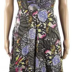 Rochie MANGO CASUAL by zara noua lunga maxi 3/4 floral animal print S26 - Rochie de zi Zara, Marime: S, Culoare: Multicolor, Cu bretele, Bumbac