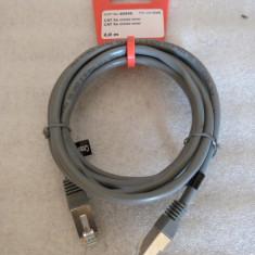 1524PLU Cablu retea internet Vivanco cat 5e cross-over 1000mb/s 2 metri mufat din fabrica