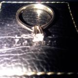Vand inel diamant 18k, aur alb cu diamant 0.23 carate, marimea 13.5., 41 - 45