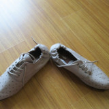 Pantofi dama, Marime: 38, Crem - Pantofi Piele CITY CHIC, noi !!