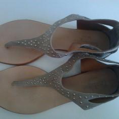 Sandale dama vara piele Conbipel marime 40, Culoare: Gri, Gri