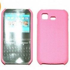 Husa protectie mesh roz Samsung C3222 Chat322 silicon rigid antiradiatii + folie protectie ecran