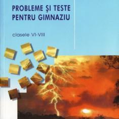 FIZICA - PROBLEME SI TESTE PENTRU GIMNAZIU CLASELE VI-VIII de FLORIN MACESANU ED. CORINT - Culegere Fizica