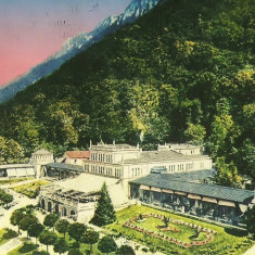 Carti Postale Romania dupa 1918, Circulata, Fotografie - NGL: Romania Baile HERCULANE Stampa De Epoca Anii 90 Carte Postala Color Circulata Carti Postale Vechi CP