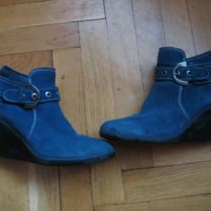 BOTINE DIN PIELE BENVENUTTI-20%REDUCERE!!! - Botine dama Benvenuti, Culoare: Bleu, Marime: 37, Bleu