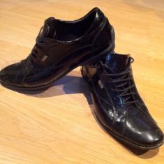 Pantofi barbati, Marime: 42, Negru - Pantofi elegnati DENIS marimea 42