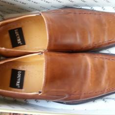 Pantofi barbati, Marime: 44, Maro - Vand pantofi piele maro Louvre