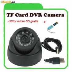 CAMERA CAMERE SUPRAVEGHERE cu inregistrare pe card Micro- SD Infrarosu. CAMERA DVR - Camera CCTV, Interior, Digital, Color