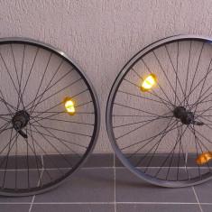Piese Biciclete, Jante/spite/nipluri - 1 pereche de roti de bicicleta