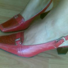 Pantofi din piele marimea 38, sunt noi! - Pantof dama Gabor, Marime: 38.5, Culoare: Rosu, Rosu