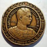 5.287 MEDALIE MILITARA CAROL II CENTENARUL RENASTERII INFANTERIEI ROMANE 1930 50mm