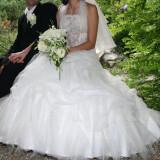 Rochie de mireasa printesa - Vand rochie de mireasa organza
