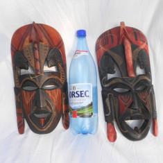 Arta din Africa - SUPERBE MASCA AFRICANA JAMBO KENYA 1991 1992 mare colectie de 2 MASTI