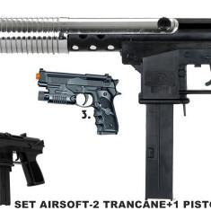Arma Airsoft - MEGA SET AIRSOFT COMPUS DIN 2 PUSTI+1 PISTOL +BONUS 3000 BILE 6mm. promotie !