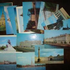Lot de 15 carti postale - orasul Sankt Petersburg, 1975, Necirculata, Fotografie, Europa