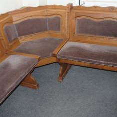 Canapea, Canapea in stil clasic, Canapele fixe, Din stofa - Coltar