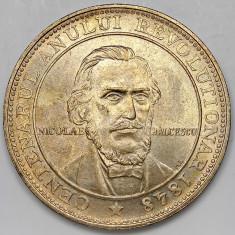 Ticuzz - Romania medalie argint Centenarul Revolutiei 1848 - 1948 - Balcescu - de colectie! - Moneda Romania