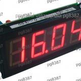 Voltmetru digital de panou, cu LED-uri, 3,5 digiti, 200V  - 111400