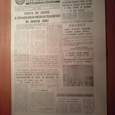 Ziarul informatia bucurestiului 1 septembrie 1980 ( vizita lui ceausescu in jud. gorj, in orasele rovinari si motru )