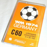 Casetofon - CASETA AUDIO PROMOTIONALA C.M. FOTBAL GERMANIA 1974 ! SUPER RAR !