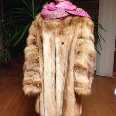 Palton dama - Haina de blana deosebita, din blana de lup alsacian