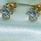 Cercei aur galben cu diamante - Cercei cu diamante
