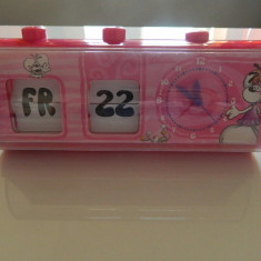 Ceas Copii, 6-10 ani, Analog - Ceas cu alarma, calendar pentru fetite, Iepurasul Diddlina, REDUS ACUM!