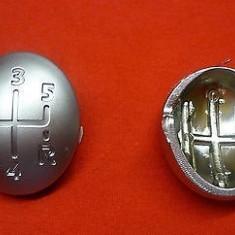 Nuca schimbator - Capac ornament schimbator 5+1 viteze cromat Renault Twingo