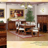 "Mobilier lux de arta sculptat manual ""Renastere Italiana"" nou in cutie 17 piese, Seturi, Renascentist, Dupa 1950"