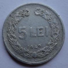 Monede Romania - 5 lei 1949 - 3 -