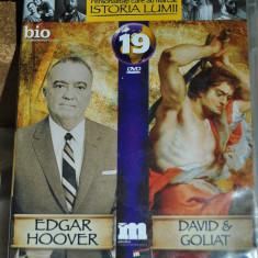 EDGAR HOOVER/DAVID &GOLIAT DVD 89 minute - Film documentare Altele, Romana