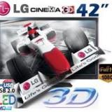 Televizor 3D LG, 42 inchi (107 cm), HDMI, USB, Scart - TELEVIZOR LED 3D FULL HD 107 CM LG 42LW4500 NOU