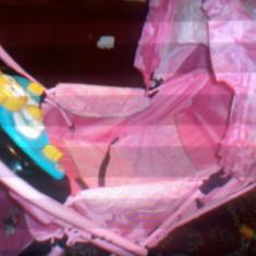 Landou roz - Carucior copii 2 in 1 Altele, 0-6 luni, Pliabil, Maner reversibil