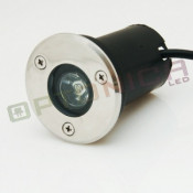 1W/220V Spot LED rotund - incastrabil in paviment - lumina alba (AC220V) foto